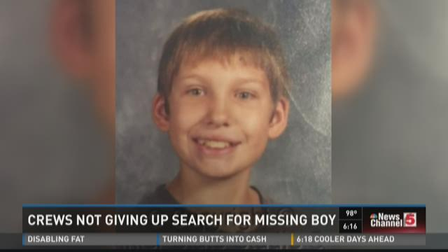 Crews not giving up on search for missing boy