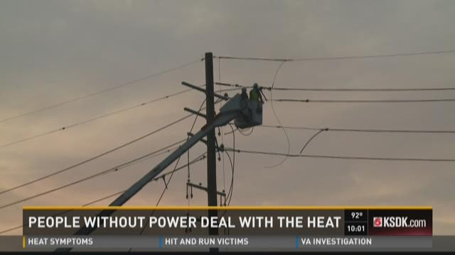 People without power deal with the heat