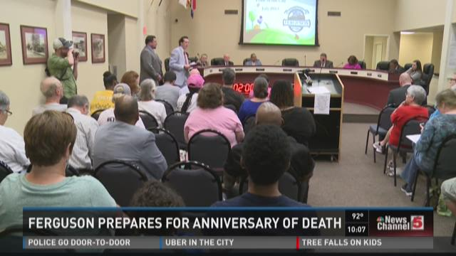 Ferguson prepares for anniversary of death