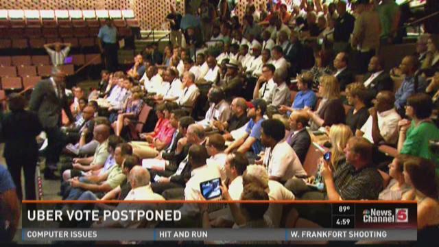 Uber vote postponed