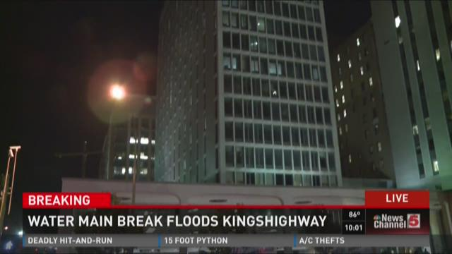 Water main break floods Kingshighway
