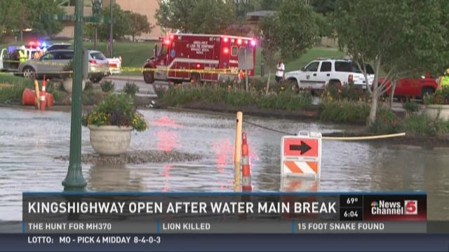 Kingshighway open after water main break