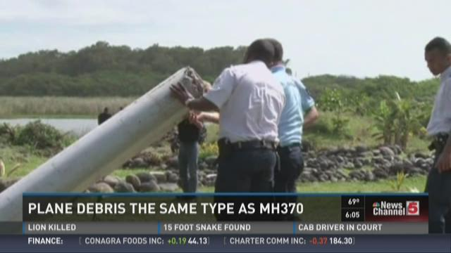 Plane debris the same type as MH370