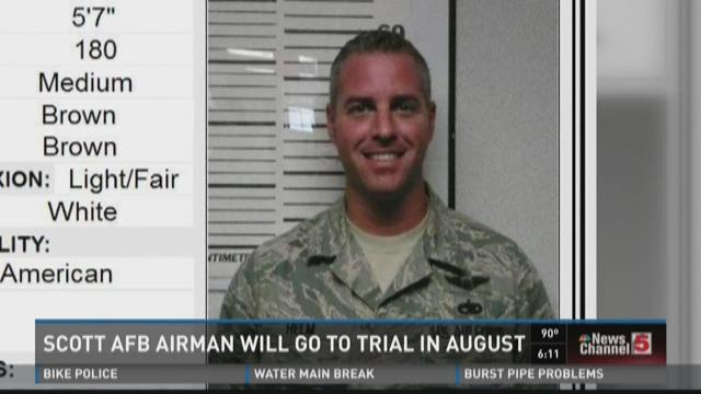 Scott AFB airman will go to trial in August