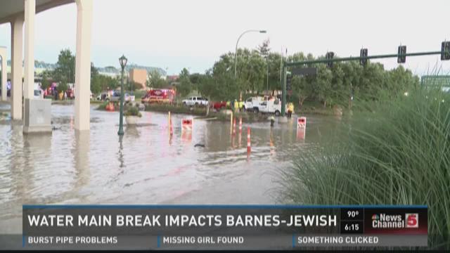 Water main break impacts Barnes-Jewish Hospital