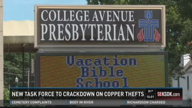 New task force to crackdown on copper thefts