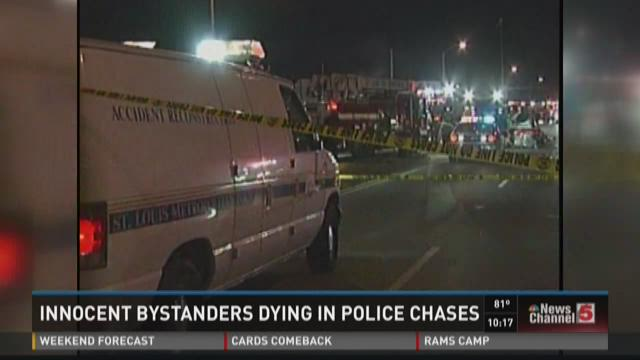 Innocent bystanders dying in police chases