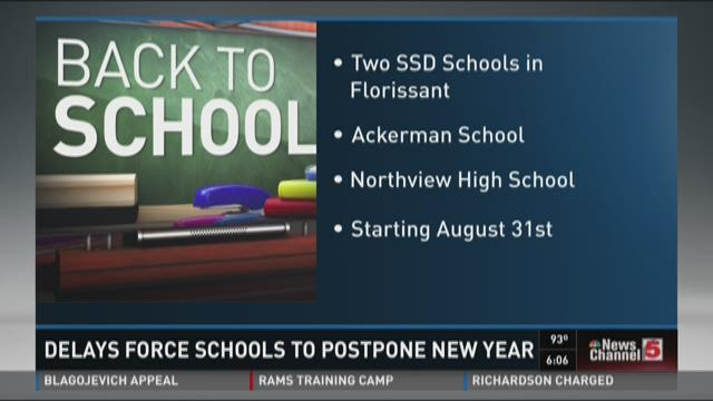Delays force schools to postpone new year