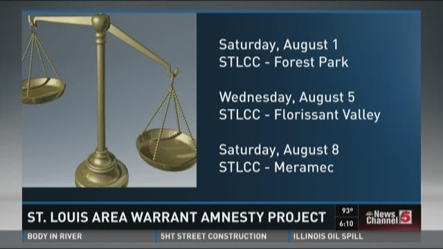 St. Louis area warrant amnesty project