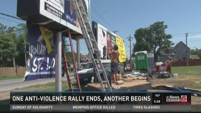 One anti-violence rally ends, another begins