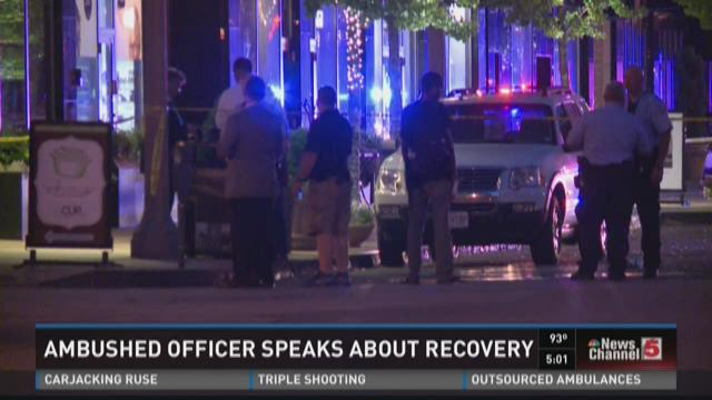 Ambushed officer speaks about recovery