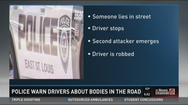 Police warn drivers about bodies in the road