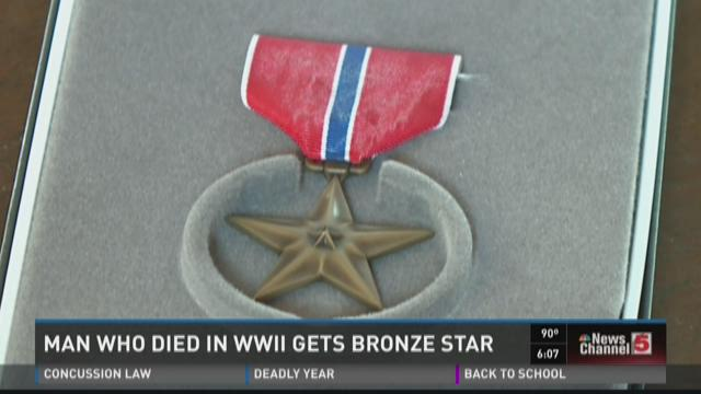 Man who died in WWII Bronze Star