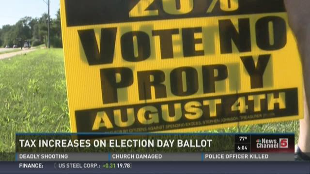 Tax increases on Election Day ballot