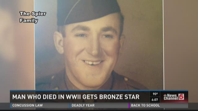 Man who died in WWII gets Bronze Star