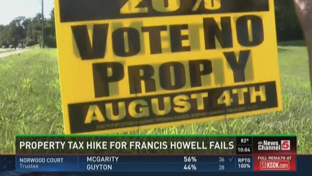 Property tax hike for Francis Howell fails