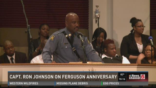 Capt. Ron Johnson on Ferguson anniversary