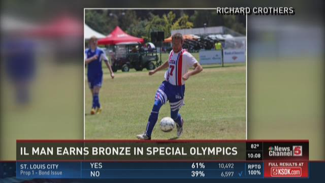 Ill. Man earns bronze medal in Special Olympics