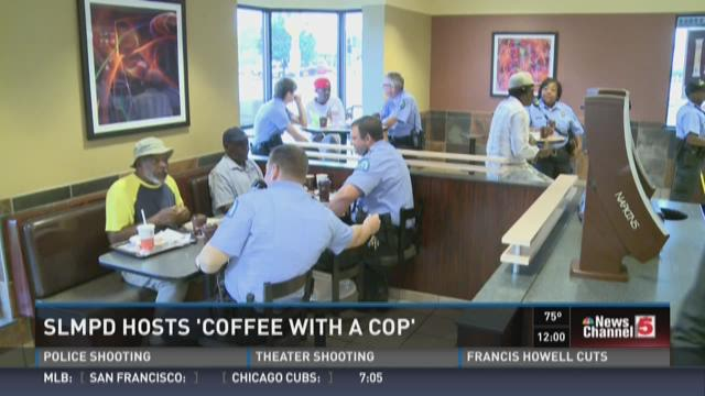 SLMPD hosts 'Coffee with a Cop'