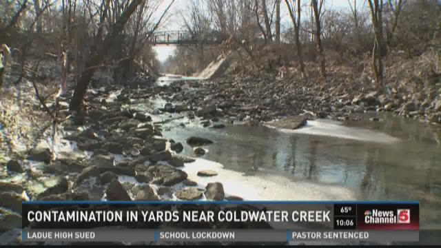 Contamination in yards near Coldwater Creek