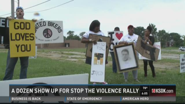 A dozen show up for stop the violence rally