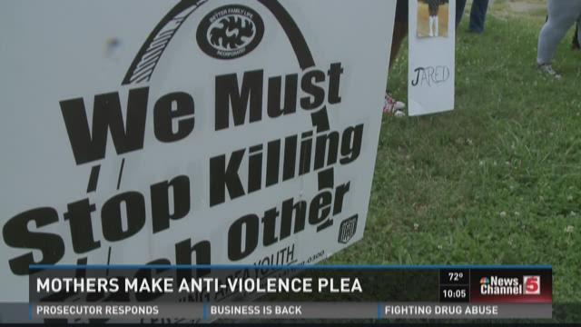 Mothers make anti-violence plea