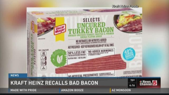 Kraft Heinz recalls bad turkey bacon