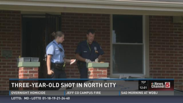Three-year-old shot in north city