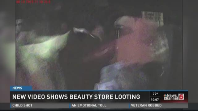 New video shows beauty store looting