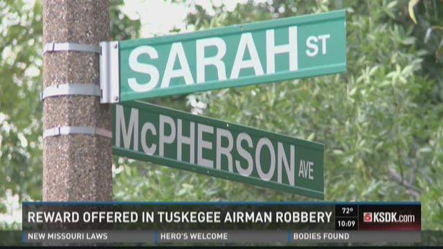 Reward offered in Tuskegee Airman robbery