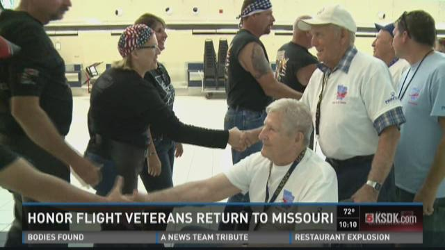Honor Flight veterans return to Missouri