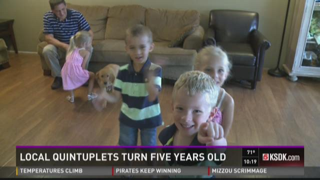 The Glass quintuplets turned five-years-old Friday.