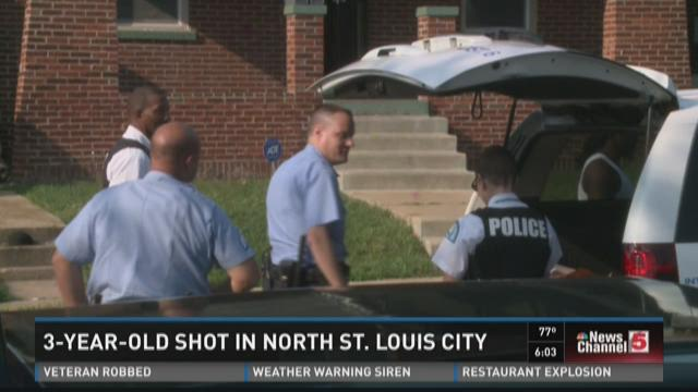 3-year-old shot in north STL