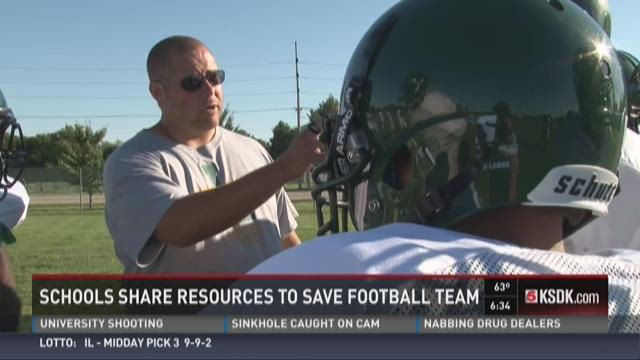 Schools share resources to save football team