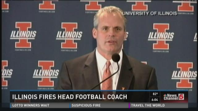 Illinois fires head football coach