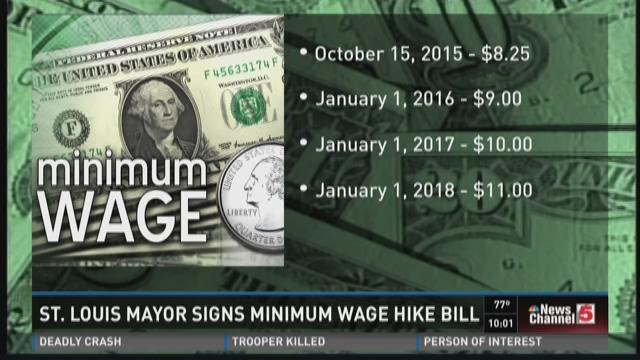 St. Louis Mayor signs minimum wage hike bill