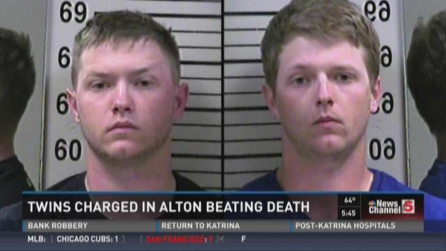 Twins charged in Alton beating death