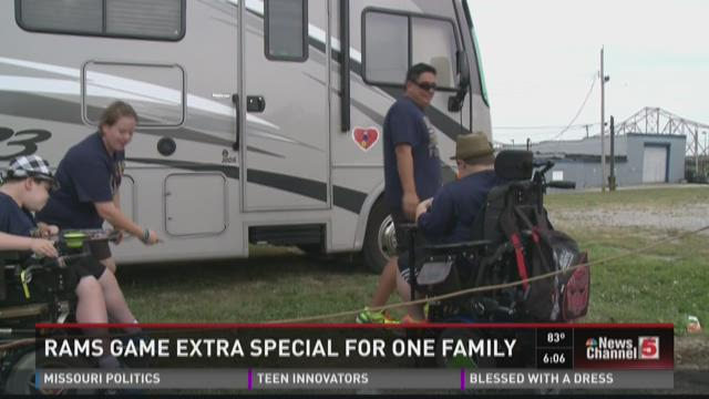 Rams game extra special for one family
