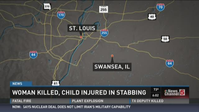 Woman killed, child injured in Swansea, Illinois stabbing