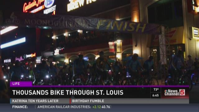 Thousands bike through St. Louis