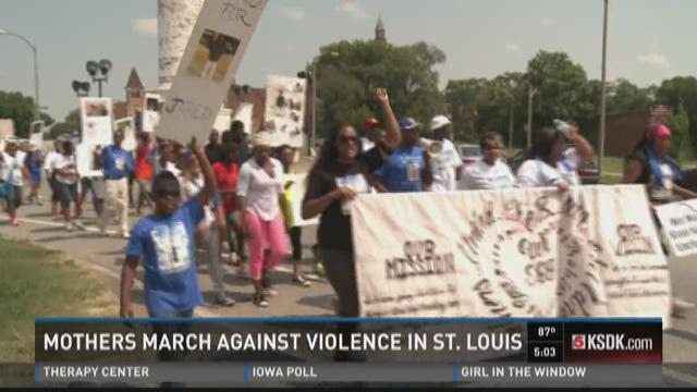 Mothers march against violence in St. Louis