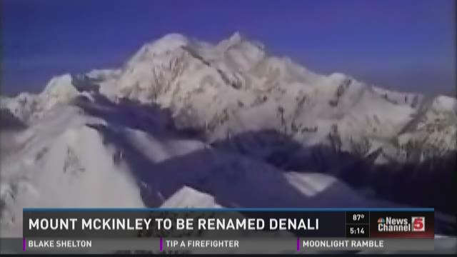 Mount McKinley to be remanmed Denali