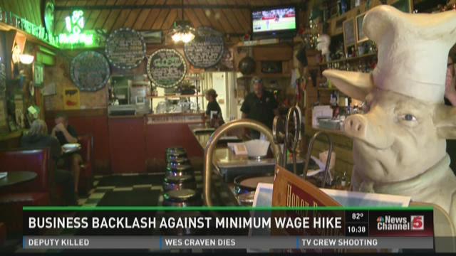 Business backlash against minimum wage hike