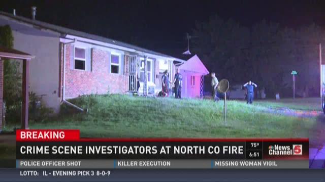 Crime scene investigators at North County fire