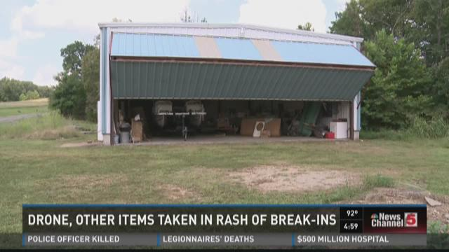 Drone, other items taken in rash of break-ins