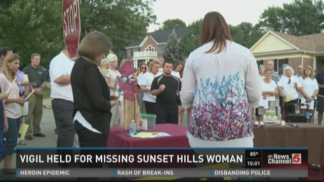 Vigil held for missing Sunset Hills woman