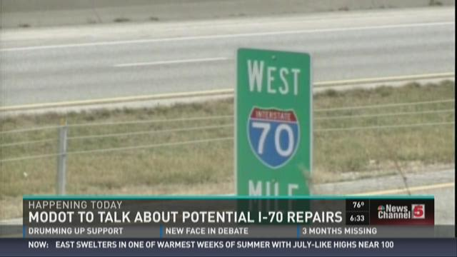 MoDOT to talk about potential I-70 repairs