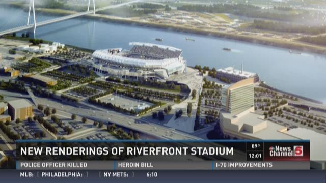 New renderings of riverfront stadium