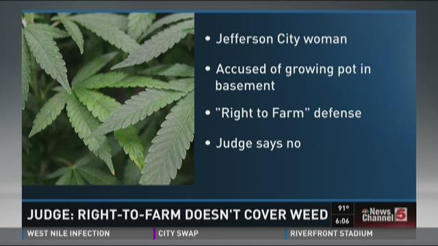 Judge: Right-to-farm doesn't cover weed