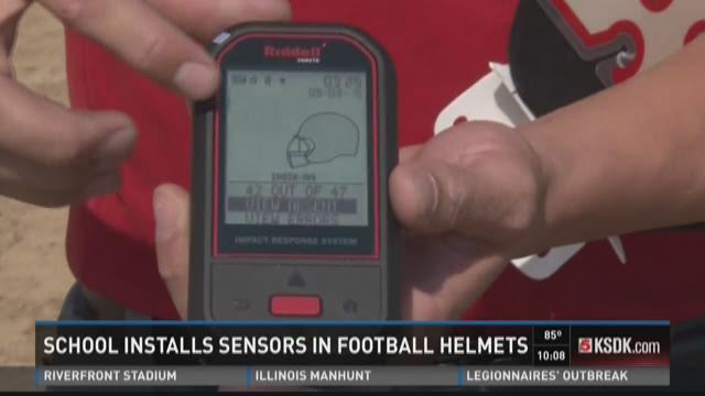 School installs sensors in football helmets